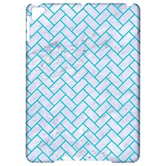 Brick2 White Marble & Turquoise Colored Pencil (r) Apple Ipad Pro 9 7   Hardshell Case by trendistuff