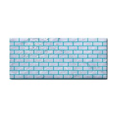 Brick1 White Marble & Turquoise Colored Pencil (r) Cosmetic Storage Cases by trendistuff
