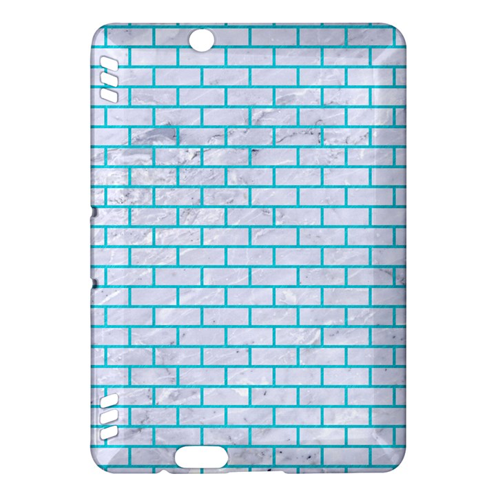 BRICK1 WHITE MARBLE & TURQUOISE COLORED PENCIL (R) Kindle Fire HDX Hardshell Case