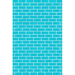 Brick1 White Marble & Turquoise Colored Pencil 5 5  X 8 5  Notebooks by trendistuff
