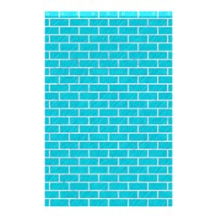 Brick1 White Marble & Turquoise Colored Pencil Shower Curtain 48  X 72  (small)  by trendistuff