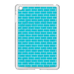 Brick1 White Marble & Turquoise Colored Pencil Apple Ipad Mini Case (white) by trendistuff