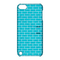 Brick1 White Marble & Turquoise Colored Pencil Apple Ipod Touch 5 Hardshell Case With Stand by trendistuff