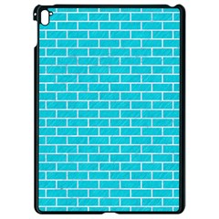 Brick1 White Marble & Turquoise Colored Pencil Apple Ipad Pro 9 7   Black Seamless Case by trendistuff