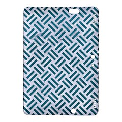 Woven2 White Marble & Teal Leather (r) Kindle Fire Hdx 8 9  Hardshell Case by trendistuff