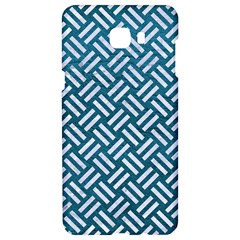 Woven2 White Marble & Teal Leather Samsung C9 Pro Hardshell Case  by trendistuff