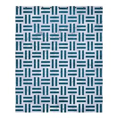 Woven1 White Marble & Teal Leather (r) Shower Curtain 60  X 72  (medium)  by trendistuff