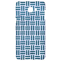 Woven1 White Marble & Teal Leather (r) Samsung C9 Pro Hardshell Case  by trendistuff