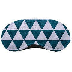 Triangle3 White Marble & Teal Leather Sleeping Masks by trendistuff