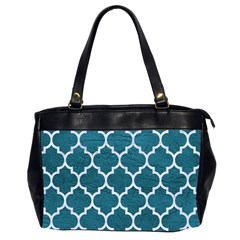Tile1 White Marble & Teal Leather Office Handbags (2 Sides)  by trendistuff