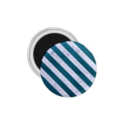 Stripes3 White Marble & Teal Leather 1 75  Magnets by trendistuff