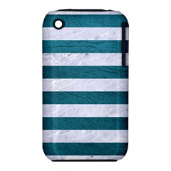 Stripes2white Marble & Teal Leather Iphone 3s/3gs by trendistuff