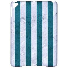 Stripes1 White Marble & Teal Leather Apple Ipad Pro 9 7   Hardshell Case by trendistuff