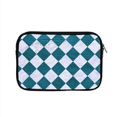 Square2 White Marble & Teal Leather Apple Macbook Pro 15  Zipper Case by trendistuff