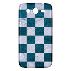 Square1 White Marble & Teal Leather Samsung Galaxy Mega 5 8 I9152 Hardshell Case  by trendistuff