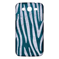Skin4 White Marble & Teal Leather (r) Samsung Galaxy Mega 5 8 I9152 Hardshell Case  by trendistuff
