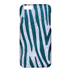 Skin4 White Marble & Teal Leather Apple Iphone 6 Plus/6s Plus Hardshell Case by trendistuff