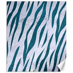Skin3 White Marble & Teal Leather (r) Canvas 20  X 24   by trendistuff