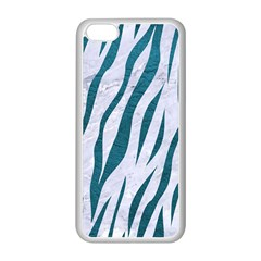 Skin3 White Marble & Teal Leather (r) Apple Iphone 5c Seamless Case (white) by trendistuff