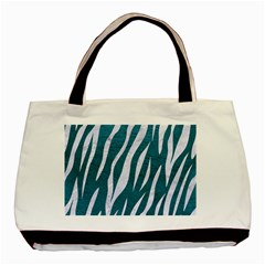 Skin3 White Marble & Teal Leather Basic Tote Bag by trendistuff