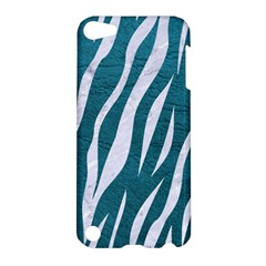 Skin3 White Marble & Teal Leather Apple Ipod Touch 5 Hardshell Case by trendistuff