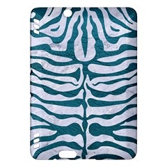Skin2 White Marble & Teal Leather (r) Kindle Fire Hdx Hardshell Case by trendistuff