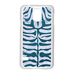 Skin2 White Marble & Teal Leather (r) Samsung Galaxy S5 Case (white) by trendistuff