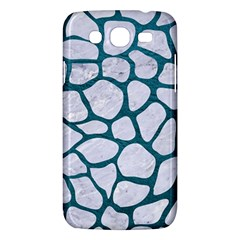 Skin1 White Marble & Teal Leather Samsung Galaxy Mega 5 8 I9152 Hardshell Case