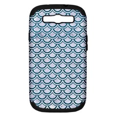 Scales2 White Marble & Teal Leather (r) Samsung Galaxy S Iii Hardshell Case (pc+silicone) by trendistuff