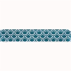Scales2 White Marble & Teal Leather Small Bar Mats by trendistuff