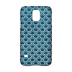 Scales2 White Marble & Teal Leather Samsung Galaxy S5 Hardshell Case  by trendistuff