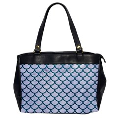Scales1 White Marble & Teal Leather (r) Office Handbags
