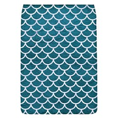 Scales1 White Marble & Teal Leather Flap Covers (l)  by trendistuff