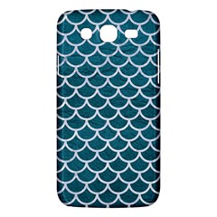 Scales1 White Marble & Teal Leather Samsung Galaxy Mega 5 8 I9152 Hardshell Case  by trendistuff
