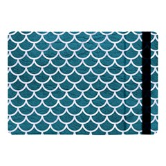 Scales1 White Marble & Teal Leather Apple Ipad Pro 10 5   Flip Case by trendistuff