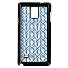 Hexagon1 White Marble & Teal Leather (r) Samsung Galaxy Note 4 Case (black) by trendistuff
