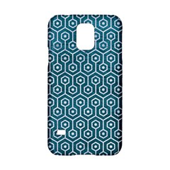 Hexagon1 White Marble & Teal Leather Samsung Galaxy S5 Hardshell Case  by trendistuff