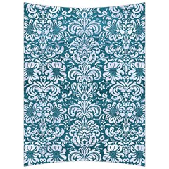 Damask2 White Marble & Teal Leather Back Support Cushion by trendistuff