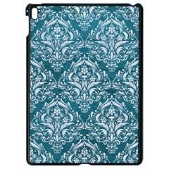 Damask1 White Marble & Teal Leather Apple Ipad Pro 9 7   Black Seamless Case by trendistuff