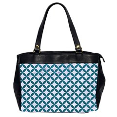 Circles3 White Marble & Teal Leather (r) Office Handbags (2 Sides)  by trendistuff