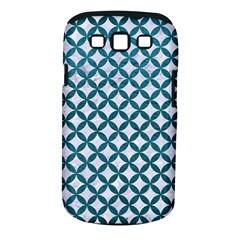 Circles3 White Marble & Teal Leather (r) Samsung Galaxy S Iii Classic Hardshell Case (pc+silicone) by trendistuff