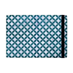 Circles3 White Marble & Teal Leather (r) Ipad Mini 2 Flip Cases by trendistuff