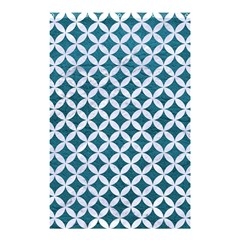 Circles3 White Marble & Teal Leather Shower Curtain 48  X 72  (small)  by trendistuff