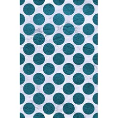 Circles2 White Marble & Teal Leather (r) 5 5  X 8 5  Notebooks