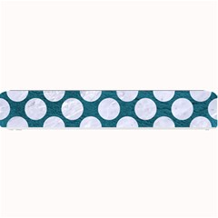 Circles2 White Marble & Teal Leather Small Bar Mats by trendistuff