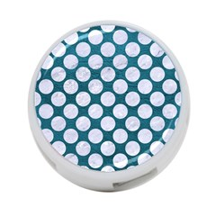 Circles2 White Marble & Teal Leather 4 Port Usb Hub (one Side) by trendistuff