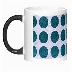 Circles1 White Marble & Teal Leather (r) Morph Mugs by trendistuff