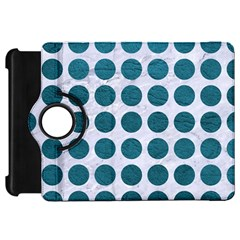 Circles1 White Marble & Teal Leather (r) Kindle Fire Hd 7  by trendistuff