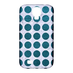 Circles1 White Marble & Teal Leather (r) Samsung Galaxy S4 Classic Hardshell Case (pc+silicone) by trendistuff