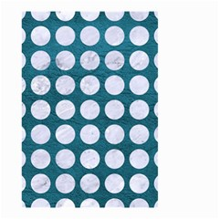 Circles1 White Marble & Teal Leather Small Garden Flag (two Sides) by trendistuff